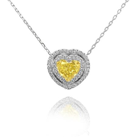 Pendent with yellow diamond