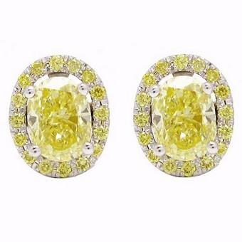 La Poussette Earrings Backs  with yellow diamonds