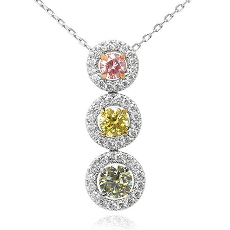Pendent with colored diamonds