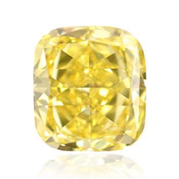 Желтый бриллиант с интенсивным желтым цветом