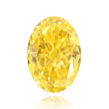 желтый бриллиант с ярким желтым цветом