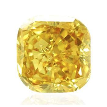 深黄色付き黄色ダイヤモンド