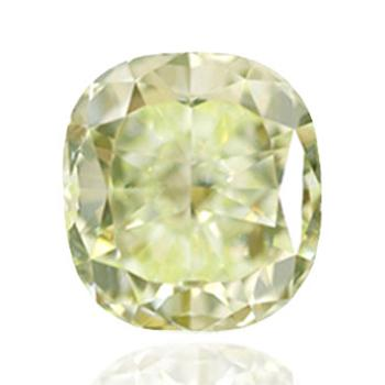 Желтый бриллиант с цветами зеленый и желтый