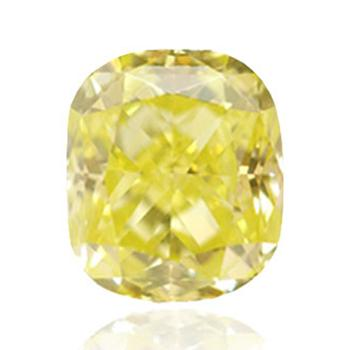 Яркий желтый бриллиант с цветами зеленый и желтый