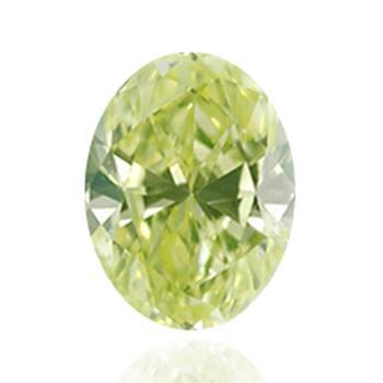 Желтый бриллиант зеленовато-желтого цвета