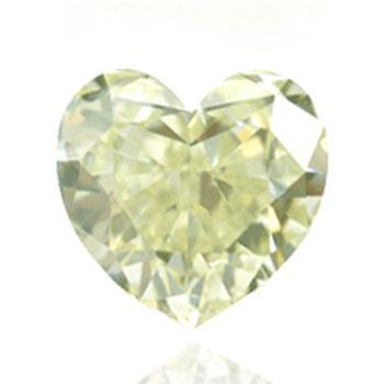 Желтый бриллиант с легким серавато-зеленовато-желтым цветом