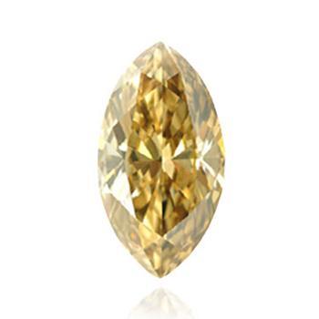 Желтый бриллиант темного коричневато-зеленовато-желтого цвета