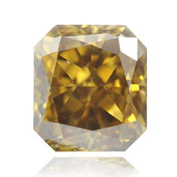 Желтый бриллиант темного коричневого зеленовато-желтого цветов