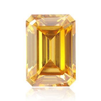 Желтый бриллиант глубокого коричневато-оранжевого желтого цветов