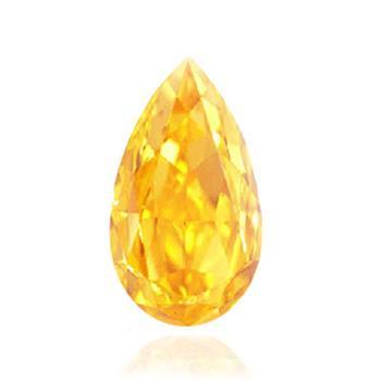 желтый бриллиант ярких оранжевого желтого цветов