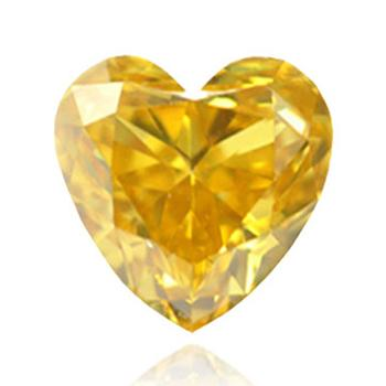 Желтый бриллиант глубокого оранжевого желтого цвета
