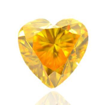 Цветной яркий оранжево желтый бриллиант