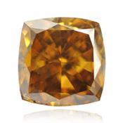 Коричневый бриллиант насыщенного желтого коричневого цвета