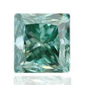 Зеленый бриллиант с насыщенным голубовато-зеленым цветом