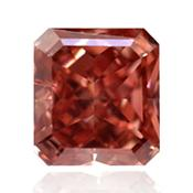 Розовый бриллиант с насыщенным оранжевым розовым цветом