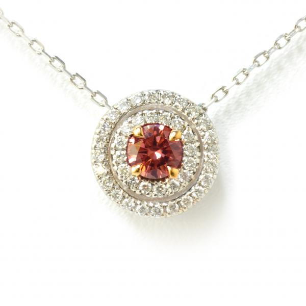 Pendent with pink diamond