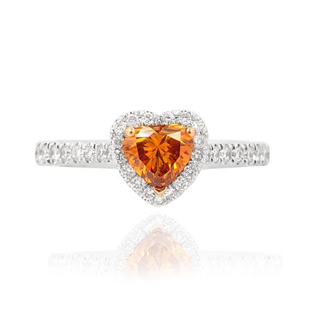 Ring with orange diamond