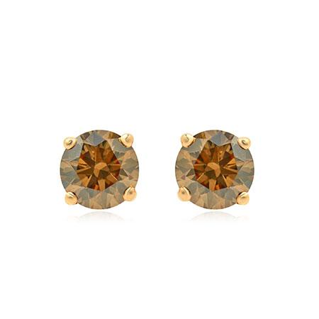 La Poussette Earrings Backs  with natural brown diamonds