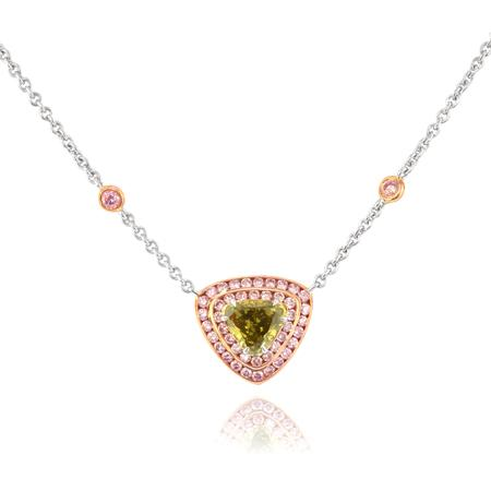 Pendant with yellowish green diamond