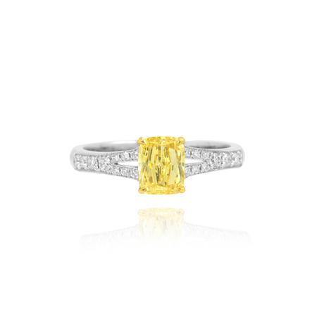 Golden ring with yellow diamond